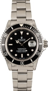 Rolex Submariner 16800 Stainless Steel Black Dial