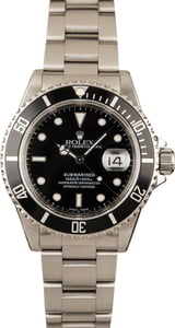Pre-Owned Rolex 16610 Submariner Black Dial Watch
