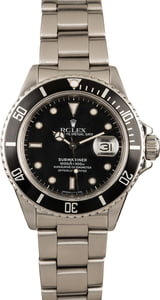 Pre-Owned Rolex Submariner 16800 Stainless Steel
