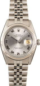 Pre Owned Rolex Datejust 16014 Stainless Steel Jubilee