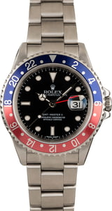 "Pre Owned GMT Master II Rolex 16710 ""Pepsi"""
