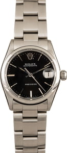 Pre-Owned Rolex OysterDate Precision Black Dial 6466