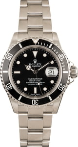 Used Rolex Submariner 16610 Steel Bezel