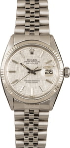 Pre-Owned Rolex DateJust 1601 Linen Dial