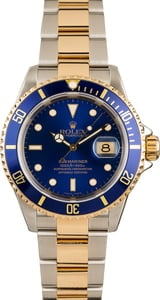 Blue Dial Rolex Submariner 16613
