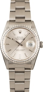 Pre-Owned 36MM Rolex Datejust 16220 Engine Turned Bezel
