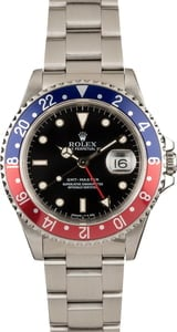 Men's Used Rolex GMT-Master 16700 Pepsi Insert