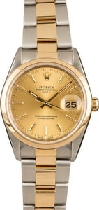 Pre Owned Rolex Date 15203 Champagne Dial