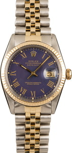 Rolex Datejust 16013 Blue Roman
