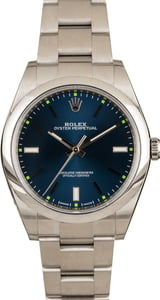 Used Rolex Oyster Perpetual 114300 Blue Luminous Dial
