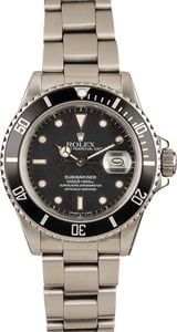 Rolex Submariner 16800 Steel Oyster Black Dial