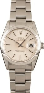 Pre-Owned Rolex Datejust 16200 Silver Index Dial