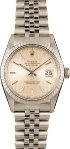 Pre-Owned Rolex Datejust 16030 Silver Tapestry Dial