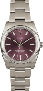 Rolex Oyster Perpetual 114200 Red Grape Dial