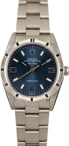 Pre-Owned Rolex Air-King 14010 Blue Dial
