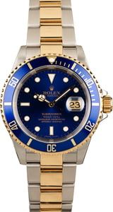 Rolex 16613 Submariner Gold Thru Clasp