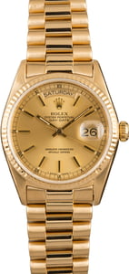 Pre-Owned 36MM Rolex President 18038 Champagne