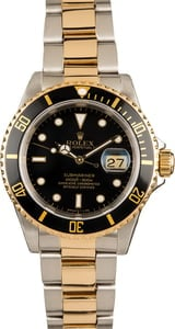 Rolex Submariner Black Dial 16613 100% Authentic