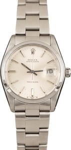 Pre-Owned Rolex Oyster Perpetual 6694 Silver Dial Watch