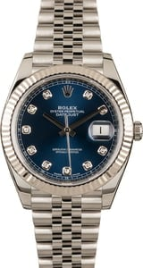 Pre-Owned Rolex Datejust 41 Ref 126334 Blue Diamond Dial