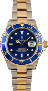 Rolex Submariner Steel and Gold Blue Dial 16613