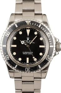 Vintage Rolex Submariner 5513 Steel