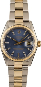 Pre-Owned Rolex Oyster Date 1505 Blue Index Dial