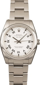 Pre-Owned Rolex Air-King 114200 White Roman Dial