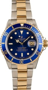 131920 Rolex Submariner 16613 Blue Dial and Bezel