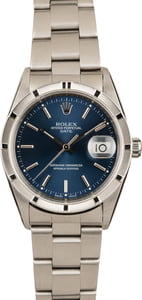 Pre-Owned Rolex Date 15210 Blue Dial Watch