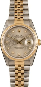 Rolex DateJust Jubilee Diamond Dial 16233