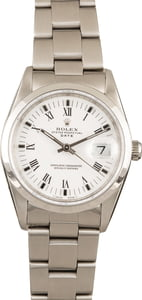 Pre-Owned Rolex Date 15200 White Roman Dial