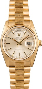 Pre-Owned Bark Finish Rolex President 18078