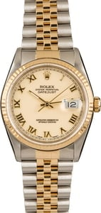 Pre-Owned Rolex Datejust 16233 Ivory Roman
