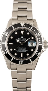 Pre-Owned Rolex Submariner 16610 Black Dial 40MM