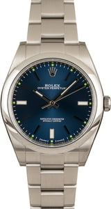 Rolex Oyster Perpetual 114300 Blue Dial 39MM