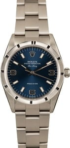Rolex Air-King 14010 Blue Dial Steel Oyster