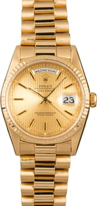 Rolex Day-Date President 18238 Champagne Tapestry Dial