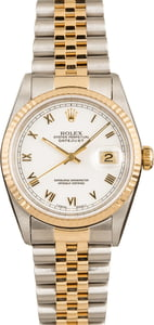 Rolex Datejust White 16233 100% Authentic