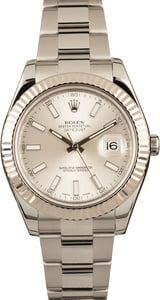 Pre-Owned Rolex Datejust II Silver Dial 116334 Fluted Bezel