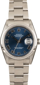 Pre-Owned Rolex Datejust 16200 Roman
