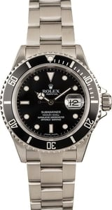 Rolex Submariner 16610 Black Bezel and Dial