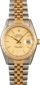 Pre Owned Datejust Rolex 16233 Champagne Index