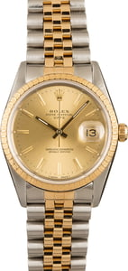 Rolex Date 15223 Two Tone Champagne Dial