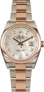 Pre-Owned Rolex Datejust 126201 MOP Diamond Dial