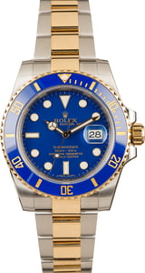 Pre-Owned Rolex Submariner 116613 Matte Blue Dial T
