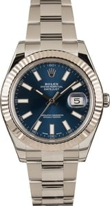 Pre-Owned Rolex Datejust II Ref 116334 Blue Dial 41MM