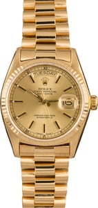 Pre Owned Rolex Yellow Gold President 18038