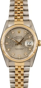 Pre-Owned Rolex Datejust 16233 Jubilee Dial