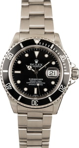 Rolex Submariner 16610 Black Watch Stainless Steel